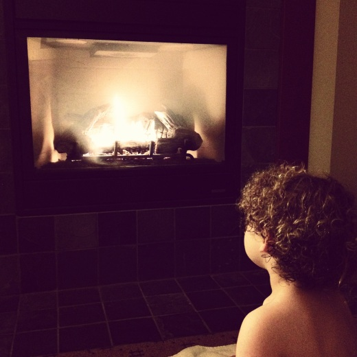 Sweet moments with our wildly sweet child by the fireplace in our room at the lodge.